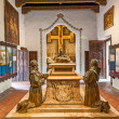 Stock Photo: Carmel Mission SCarlos Borromeo in Carmel,interior,priors ro