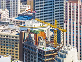 People work on a construction platform in San Francisco — Stock Photo
