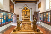 Carmel Mission San Carlos Borromeo in Carmel,interior,priors ro — Stock Photo