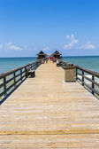 Midday at Naples pier on beach Golf of Mexico — Stock Photo