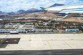 Aerial of airport of Lanzarote — Stock Photo