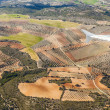 Aerial of rural landscape nar Madrid — Stock Photo #34760415