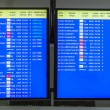 Stock Photo: Arrecife international airport departures board
