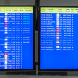 Arrecife international airport departures board — Foto Stock