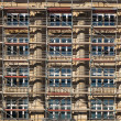 Scaffold at an old historic house in Frankfurt — Stockfoto