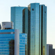 Stock Photo: Skyline with 155 meter high twin towers Deutsche Bank I and