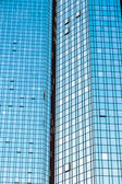 Facade of high twin towers Deutsche Bank I and II — Stock Photo