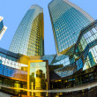 Stock Photo: Perspective of twin towers Deutsche Bank I and II