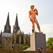 Adam from Michelangelo in Pink is standing in front of the colog — Stock Photo