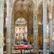 Stock Photo: Church Santa Maria in the beautiful Jeronimos Monastery in Lisbo