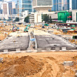 View to the road construction sites near  the harbor of Victori — Stock Photo