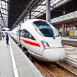 High speed train in station — Stock Photo
