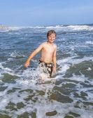 çocuklar güzel okyanus ve plaj keyfi — Stok fotoğraf