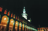 Back in 1997. The Omayyad Mosque perfectly illuminated at night. — Stock Photo
