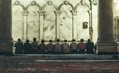 Back in 1997. The Omayyad Mosque, people praying — Stock Photo