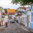A cobblestone street in the Unesco world heritage site of Goias — Stock Photo #36115899