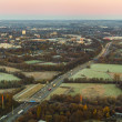 Aerial of highway on early morning — Stock Photo