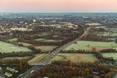 Letecké dálnice na ranní — Stock fotografie