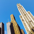 Twin towers in New York under blue sky — Stock Photo #36252943