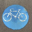 Symbol for bikelane — Stock Photo