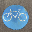 Symbol for bikelane — Stock fotografie