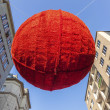 Christmas balls as decoration in viennas streets — Stock Photo