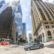 View to historic and modern skyscraper in downtown Houston — Stock Photo #36899273