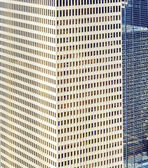 Facade of modern buildings in downtown Houston — Stock Photo