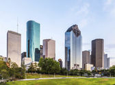 Skyline of houston in the evening — Stock Photo