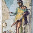 Ancient roman fresco of the roman god of fertility and lust Pri — Stok fotoğraf