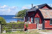 Swedish countryside near Joenkoeping — Stock Photo