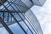 Facade of uniqua tower in vienna — Stock Photo