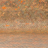 Harmonic red brick wall background — Stock Photo