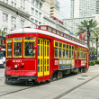 Passengers travel with the street car at Canal street downtown N — Stock Photo #37771277