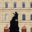 Munich residence with statue of king Luitpold — Stock Photo #38017555