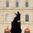 Munich residence with statue of king Luitpold — Stock Photo #38017575
