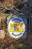 Old enamel plate with insignia of the Freistaat Bayern — Stock Photo