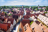 View to old medieval city of Dinkelsbuehl, Germany — Stock Photo
