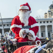 Driver of the fiaker is dressed as Santa Claus in red — Stock Photo