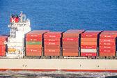 грузовой корабль валлениус wilhelmsen проходит мост золотые ворота — Стоковое фото
