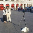 Stock Photo: Japanese tourists take foto to remember visit of maste