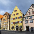 Stock Photo: Old timbered house facade at of Rothenburg ob der Tauber