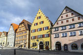 Old timbered house facade at of Rothenburg ob der Tauber — Stock Photo