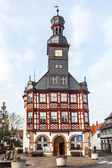 Famous timbered town hall in Lorsch — Stock Photo