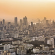Stock Photo: Bangkok skyline in sunset