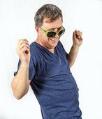 Man performs cool rap — Stock Photo