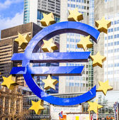 Euro Sign in Frankfurt — Stock Photo