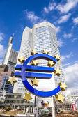 Euro Sign in Frankfurt — Foto Stock