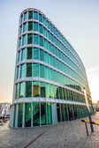 Famous modern westhafen-haus in Frankfurt — Stock Photo
