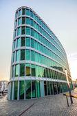 Famous modern westhafen-haus in Frankfurt — Stock Photo